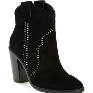 Joie Suede Studded Booties - 8 (fits like a 7.5)